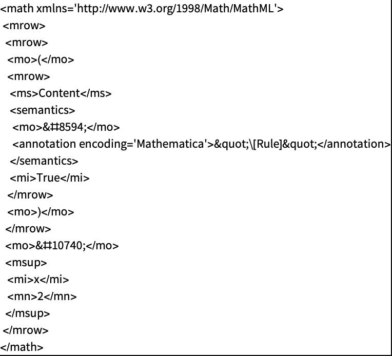 Working With Mathmlwolfram Language Documentation
