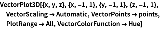 Vectorplot3d Wolfram Language Documentation