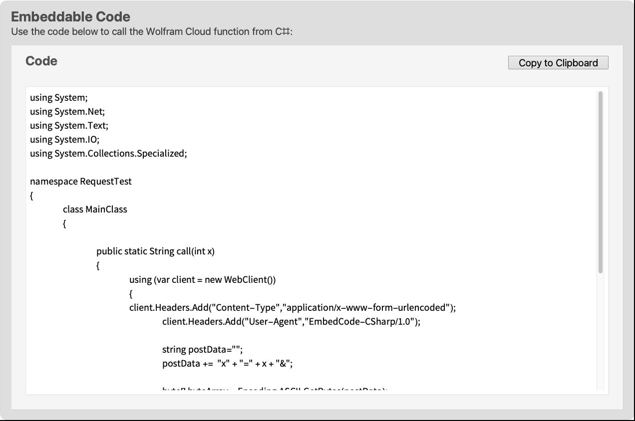 C#—Wolfram Language Documentation