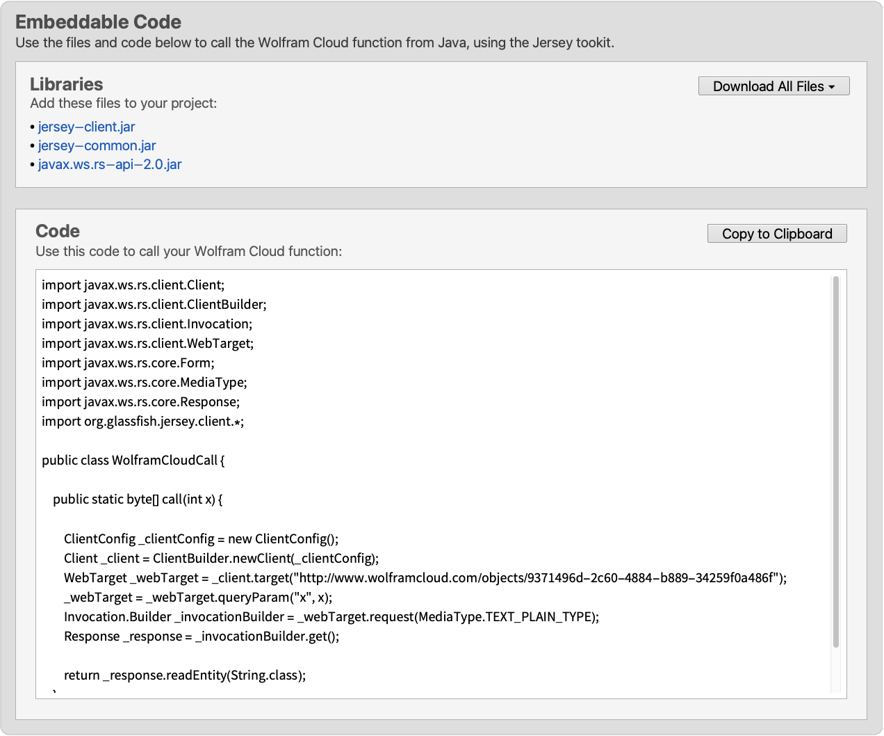 Java-Jersey—Wolfram Language Documentation