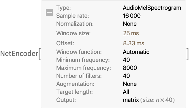 AudioMelSpectrogram—Wolfram Language Documentation