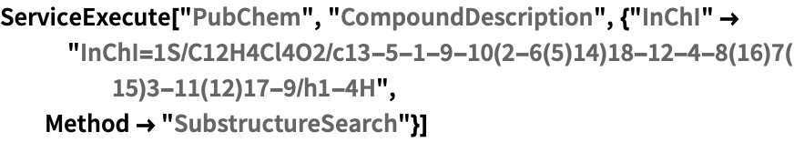 PubChem—Wolfram Language Documentation