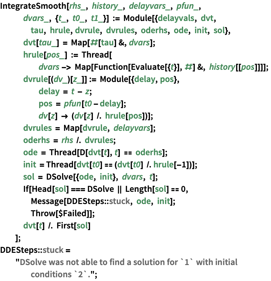 Delay Differential Equations—Wolfram Language Documentation