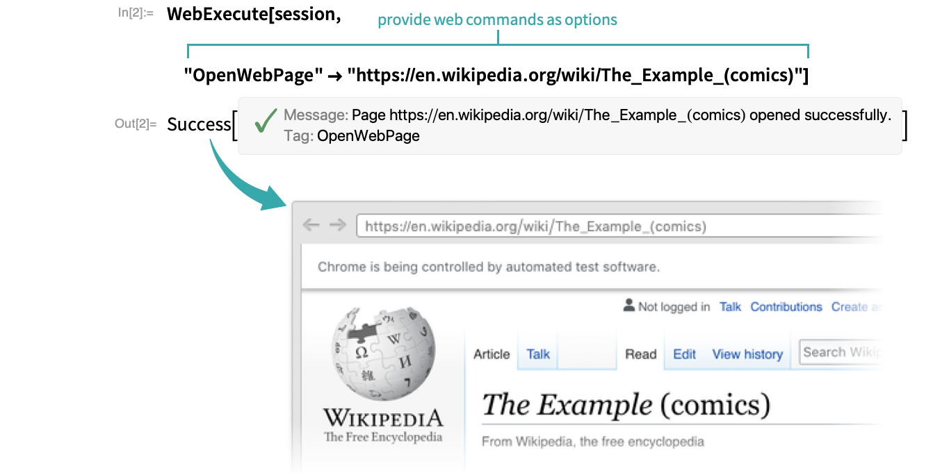 Control a Web Browser Programmatically—Wolfram Language