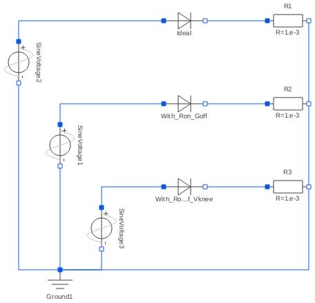 Modelica Electricalalogexamplesaracteristicidealdiodes