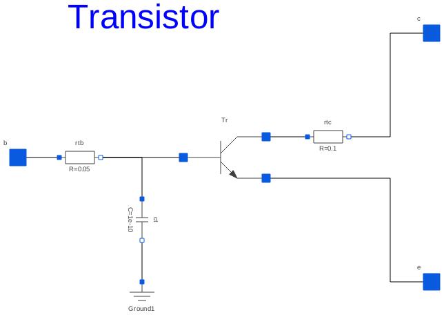Modelica Electricalalogexamplesutilitiesansistor