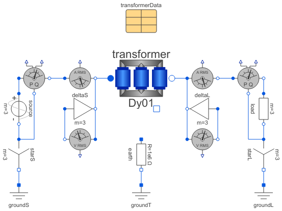 Modelica  Electrical Machines Examples Transformers